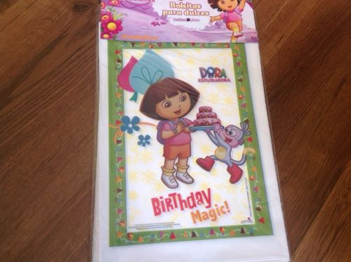 NEW  DORA THE EXPLORER 25 BIRTHDAY LOOT CANDY BAGS PARTY BAGS SUPPLIES