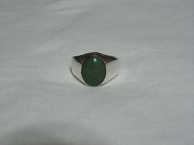 ...Vintage Man's/Men's Sterling Silver,Green Turquoise Ring...Size 11.5...