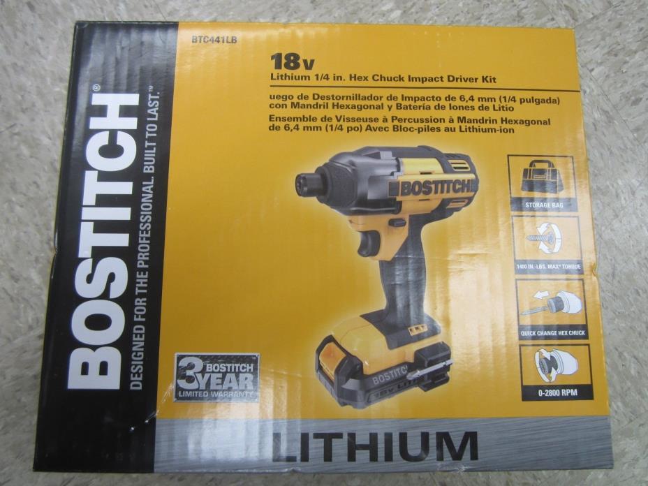 Bostitch BTC 441lb 18 Volt Lithium Cordless 1/4