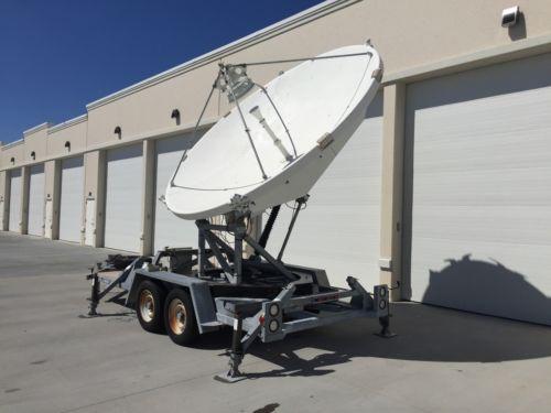 3.7 Meter transportable KU uplink antenna ESA Andrew Satellite Dish Trifold