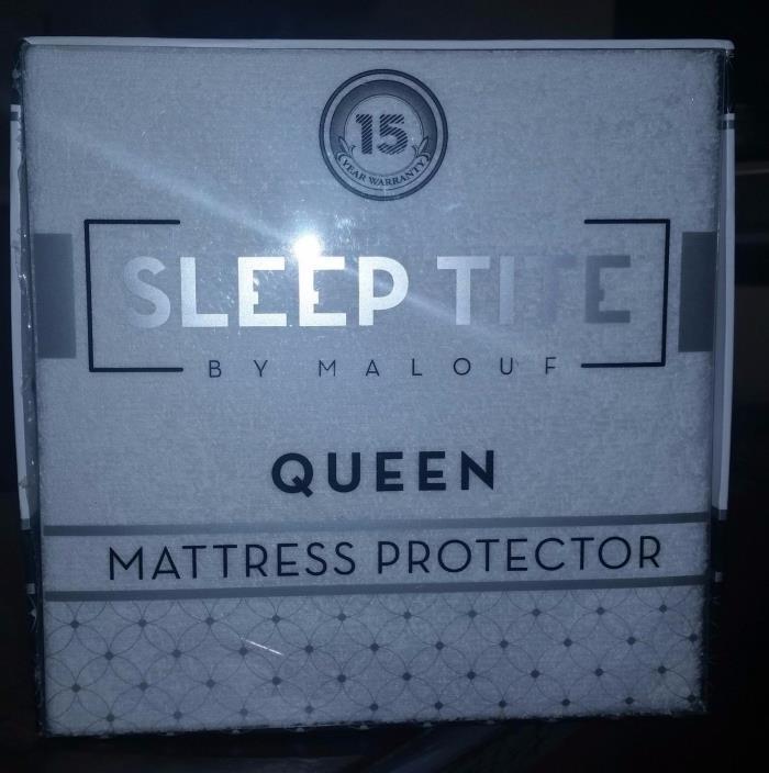 SLEEP TITE Hypoallergenic 100% Waterproof Mattress Protector - 15-Year Warranty