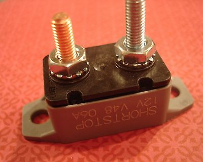 12V 48V 6A BUSSMANN Automotive Marine RV Car Truck Circuit Reset Short-Stop FUSE