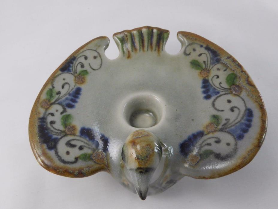 Ken Edwards El Palomar Tonala Ceramic Flat Bird Candleholder - Mexico