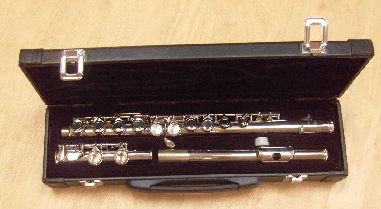 Weimar Flute with Case - Closed Hole - Student Flute - Button Sticks