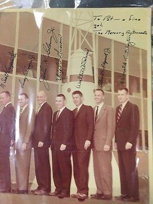 Mercury 7 Astronauts Signed Picture by ALL 7