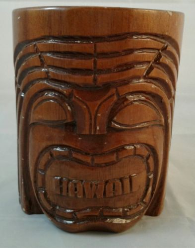 Wood Tiki Hawaii Mug