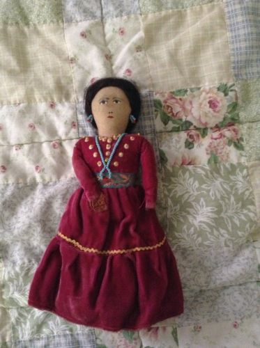 Vintage Native American Indian Doll