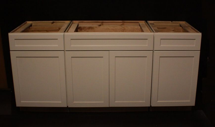 Kraftmaid Canvas Maple Kitchen 3- Base Cabinets 72 Set.  Could Be Used As Vanity