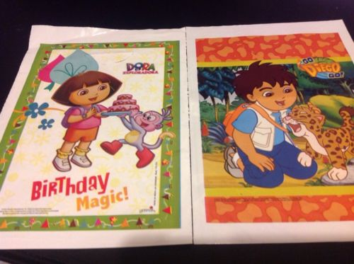 NEW  DORA THE EXPLORER & GO DIEGO GO 40 BIRTHDAY LOOT CANDY BAGS PARTY BAGS