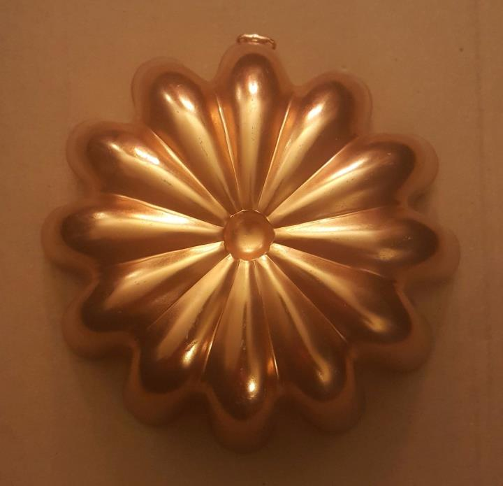 Vintage Copper Jello Mold Wall Hanging Decor Round Bundt Pan
