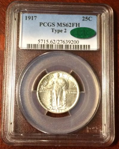 1917 Standing Liberty Quarter Type 2 PCGS MS62 CAC