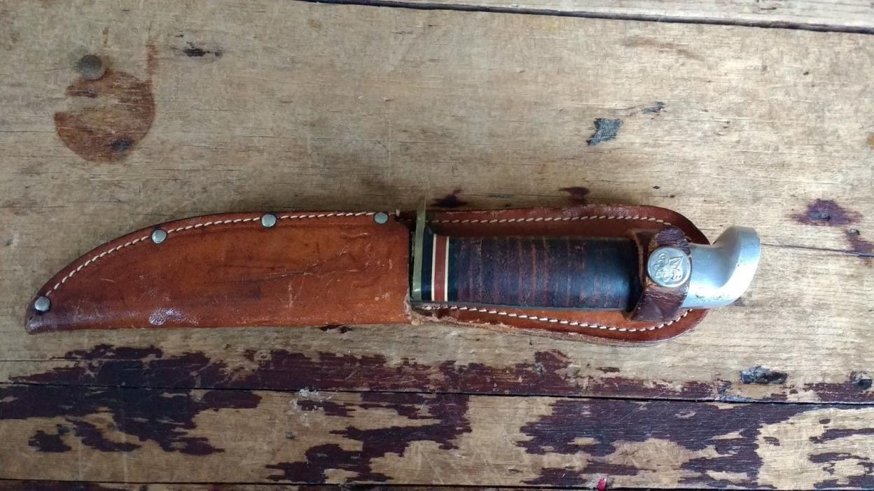Vintage 1950's Boy Scout BSA WESTERN Fixed Blade Survival Bowie Hunting Knife