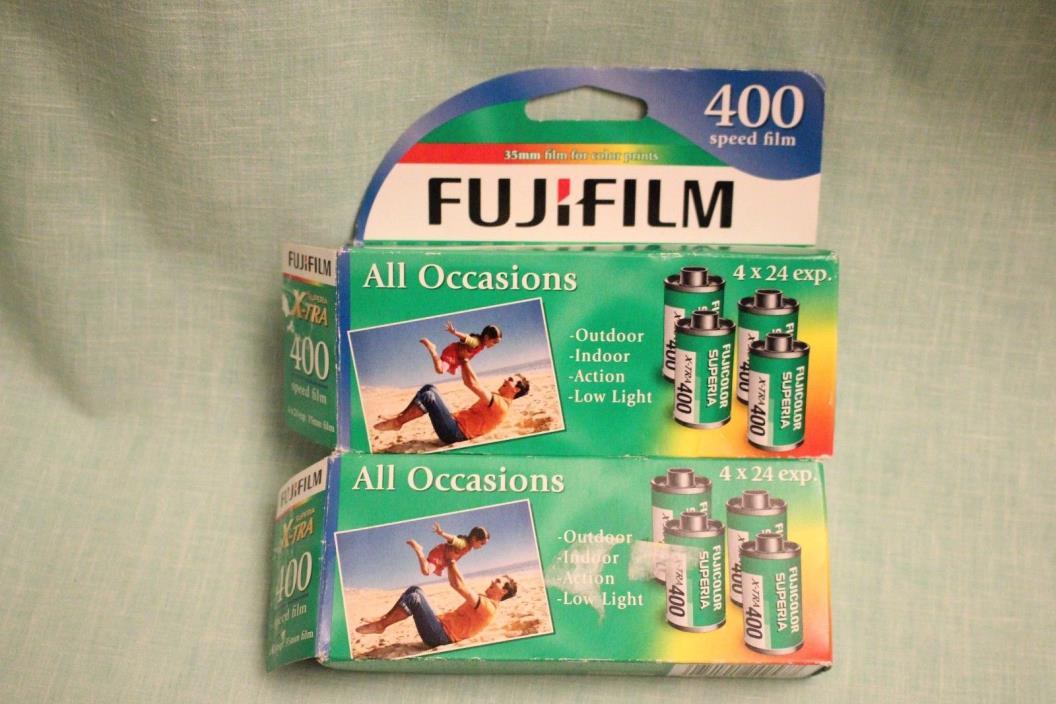 FujiFilm Superia xtra 400 Speed Film 35mm Color Prints 8 rolls x 24