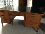 Desk - antique - solid oak