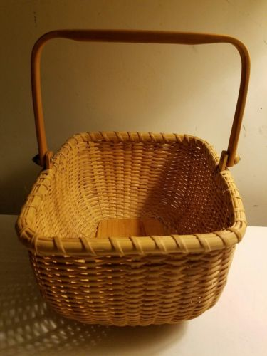 Nantucket basket vintage large rectangular nautical decor