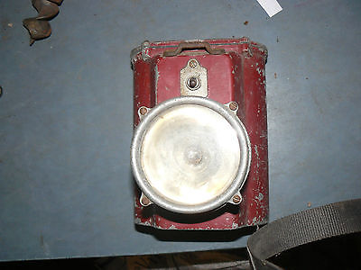 vintage rare fireman Light Fire Truck Light red  untested