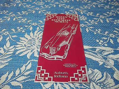 vintage brochure, Auburn Cord Duesenberg Museum Auburn, Indiana