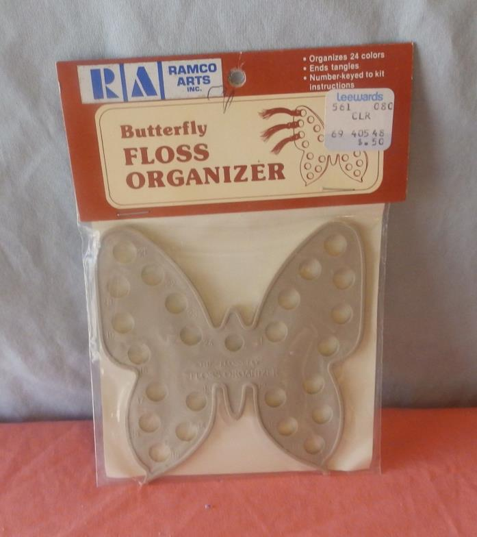 VINTAGE RAMCO ARTS BUTTERFLY FLOSS ORGANIZER NEW