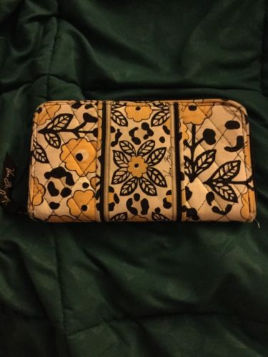 Vera Bradley Go Wild Accordion Wallet Zip Around