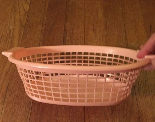 Vintage Susy Goose Pretend Play Pink Laundry Basket 60's
