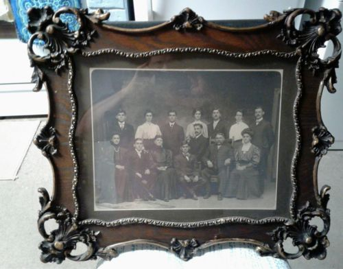 *** GORGEOUS LARGE ANTIQUE VICTORIAN WOOD & GESSO ORNATE PICTURE FRAME ***