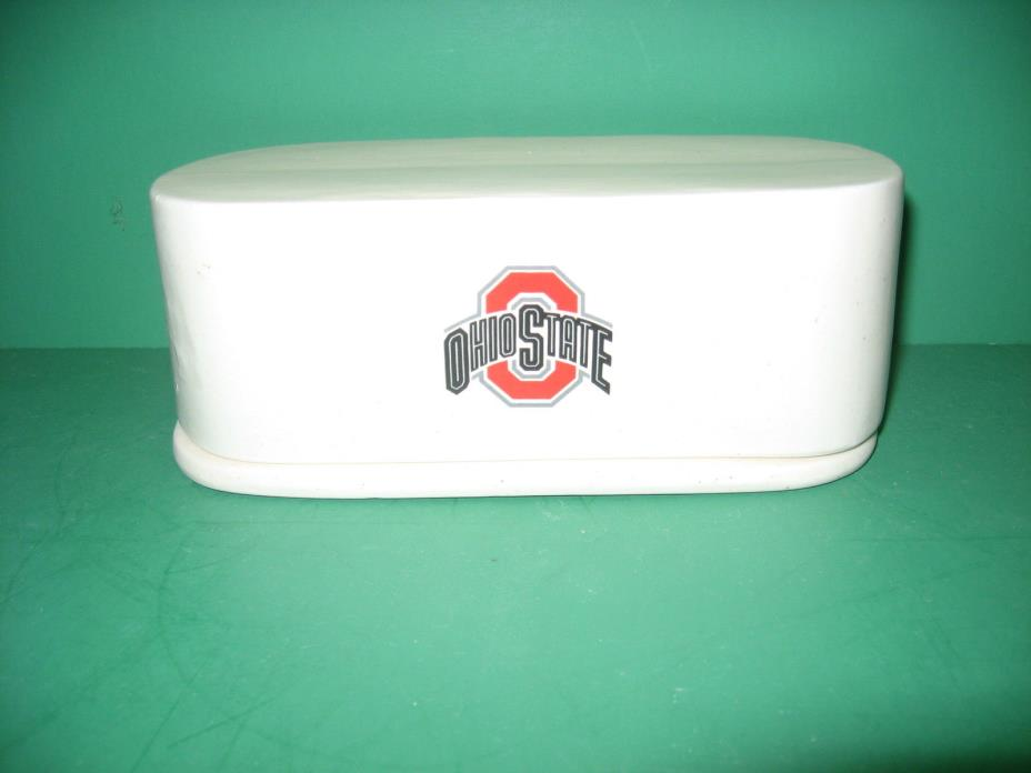 OHIO  STATE  BUCKEYE     CERAMIC  BUTTER  BOAT     MADE  IN  USA  AWESOME!!!