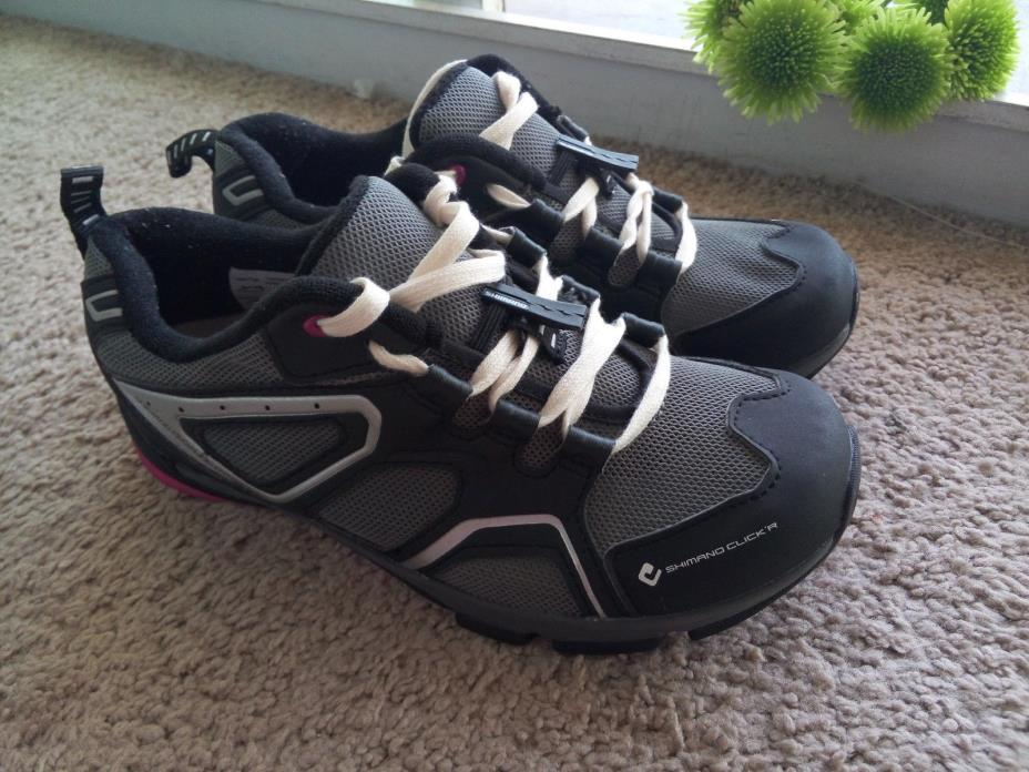 NEW Shimano SH-CW40 Women's Cycling Touring Shoes MTB 38eur, 6.5US Pink and grey