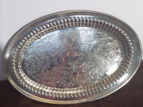 Antique F.B. ROGERS Silver Co. Oval  Vintage Plate