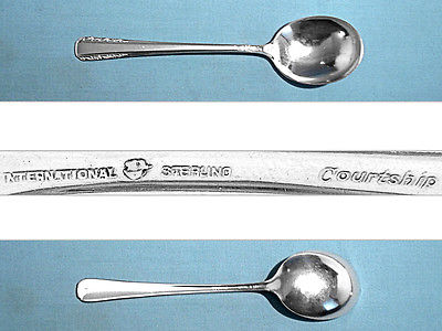 INTERNATIONAL STERLING CREAM SOUP SPOON(S) ~ COURTSHIP ~ NO MONO