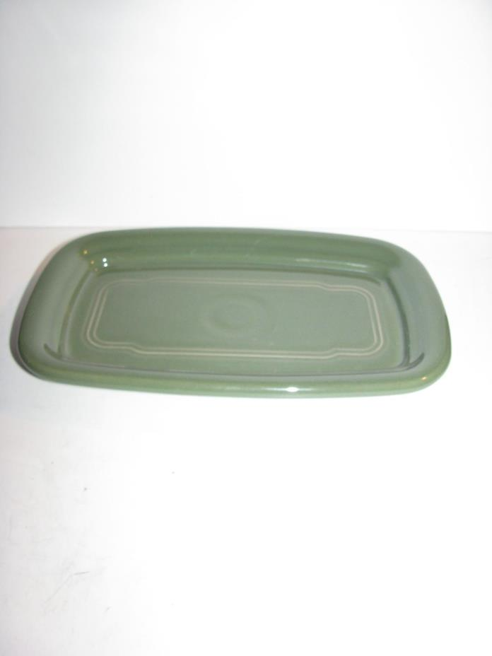 Fiesta Dinner Ware, Extra Large Butter Dish Tray only, Sage green, New seconds