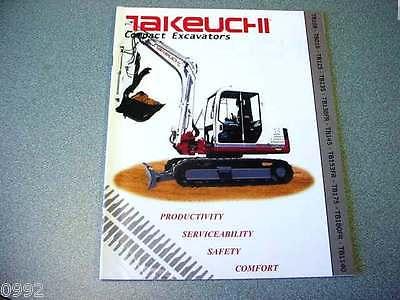 Takeuchi Compact Excavators Brochure
