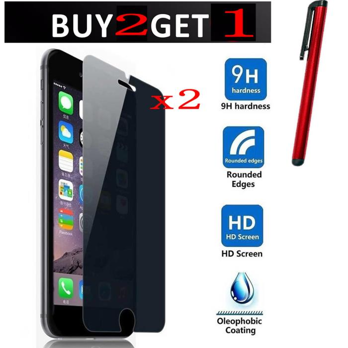 2PCS iPhone Samsung Galaxy Privacy Anti-Spy LCD Screen Protector Shield Film
