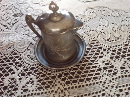 Antique Silver Plated Syrup Pitcher