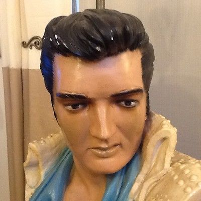 ELVIS PRESLEY LAMP LIFE SIZE BUST head statue