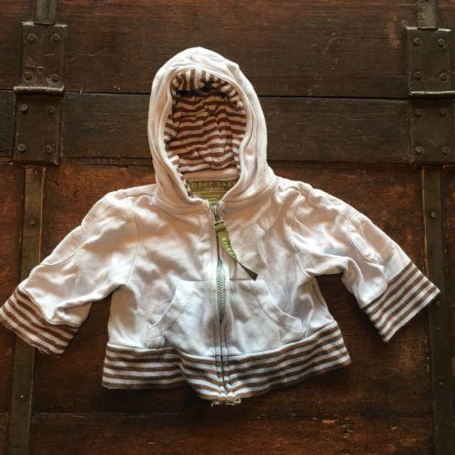 Amber Hagen Organics Hoodie Sweatshirt Jacket 3-6 Months Bamboo Girl Boy