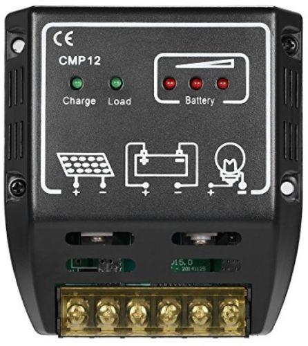 Docooler 20A 12V/24V Solar Charge Controller Solar Panel Battery Regulator Safe