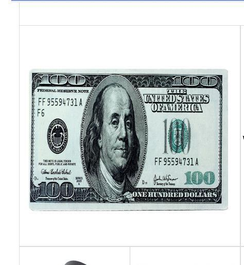 $100 Dollar Bill Mouse Pad Benjamin Franklin