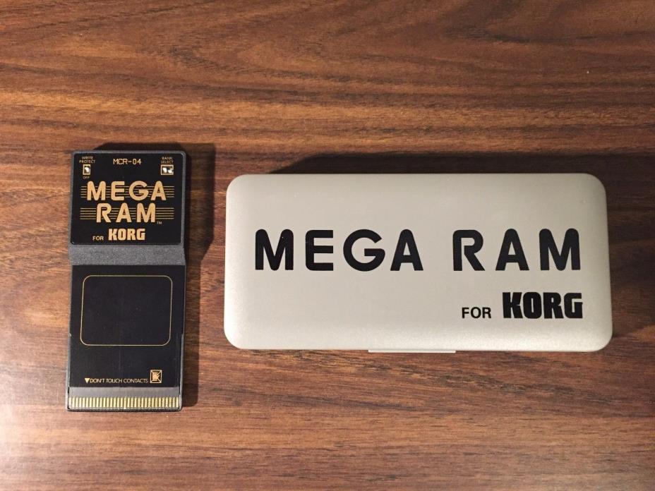 KORG MCR-04 MEGA RAM for Korg M1, T Series, Wavestation, and more VERY RARE