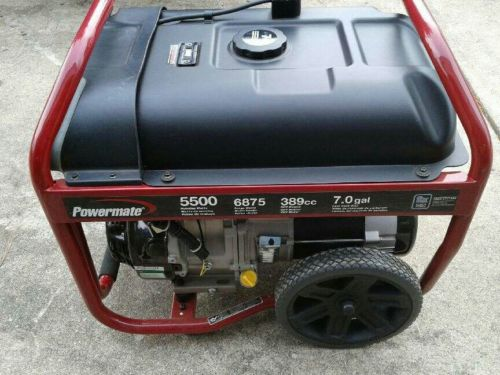 powermate generator 5500 used once