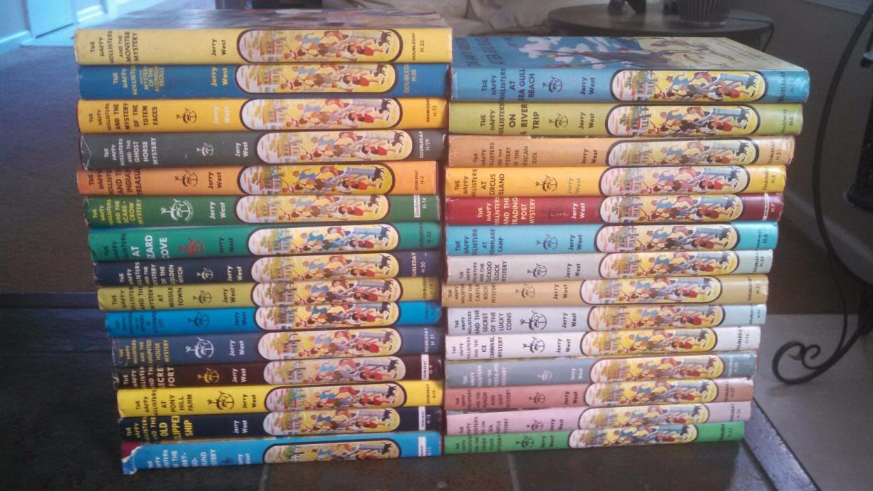 Lot of 29 Happy Hollister Books Very Nice w HB/DJ HB DJ all have dust jackets