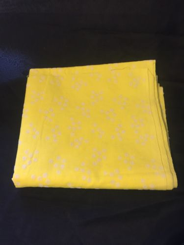 vintage white floral embroidered yellow fabric