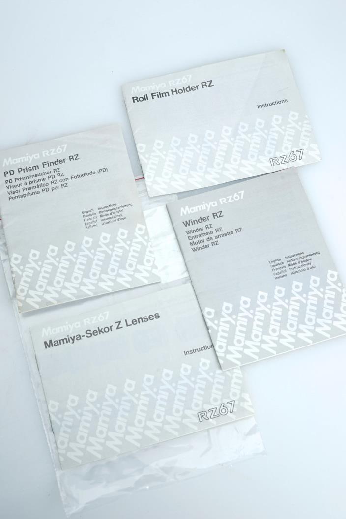 MAMIYA Roll Film Holder + PD Prism Finder RZ  Sekor Z Lenses Winder Instructions