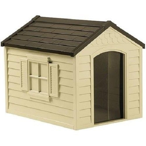Dog House Large Plastic Outdoor Deluxe Pet Shelter 70 Pounds All Weather Durable