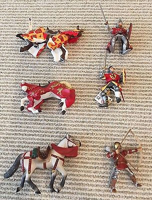Schleich/ Papo - Toy Knights and Horses - 3 horses 2 knights 1 archer