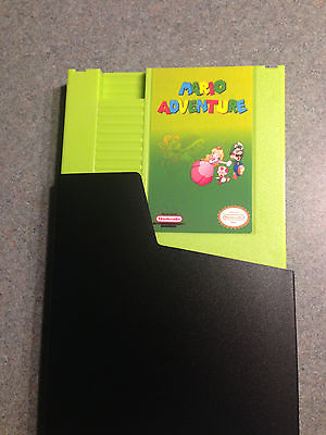 MARIO ADVENTURE! DUST COVER INCLUDED.  NINTENDO NES.  Rare green shell.