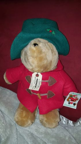 Paddington Bear Plush Teddy Bear  Christmas 1994 Sears Original Tags