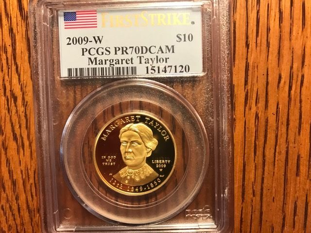 2009-W $10 Gold Spouse Margaret Taylor PCGS PR70DCAM - FIRST STRIKE
