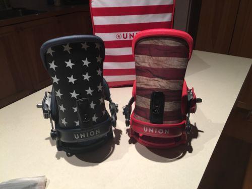 Union Super Force Flag Snowboard Binding New Rare