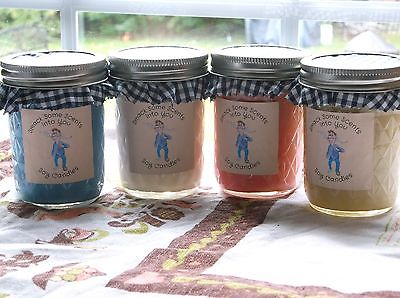 8 oz Quilted Jelly Jar 100% Soy Candle Apple Butter