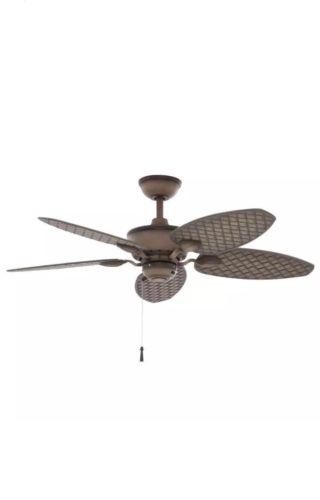 Hampton Bay Largo 48 in. Weathered Zinc Outdoor Ceiling Fan
